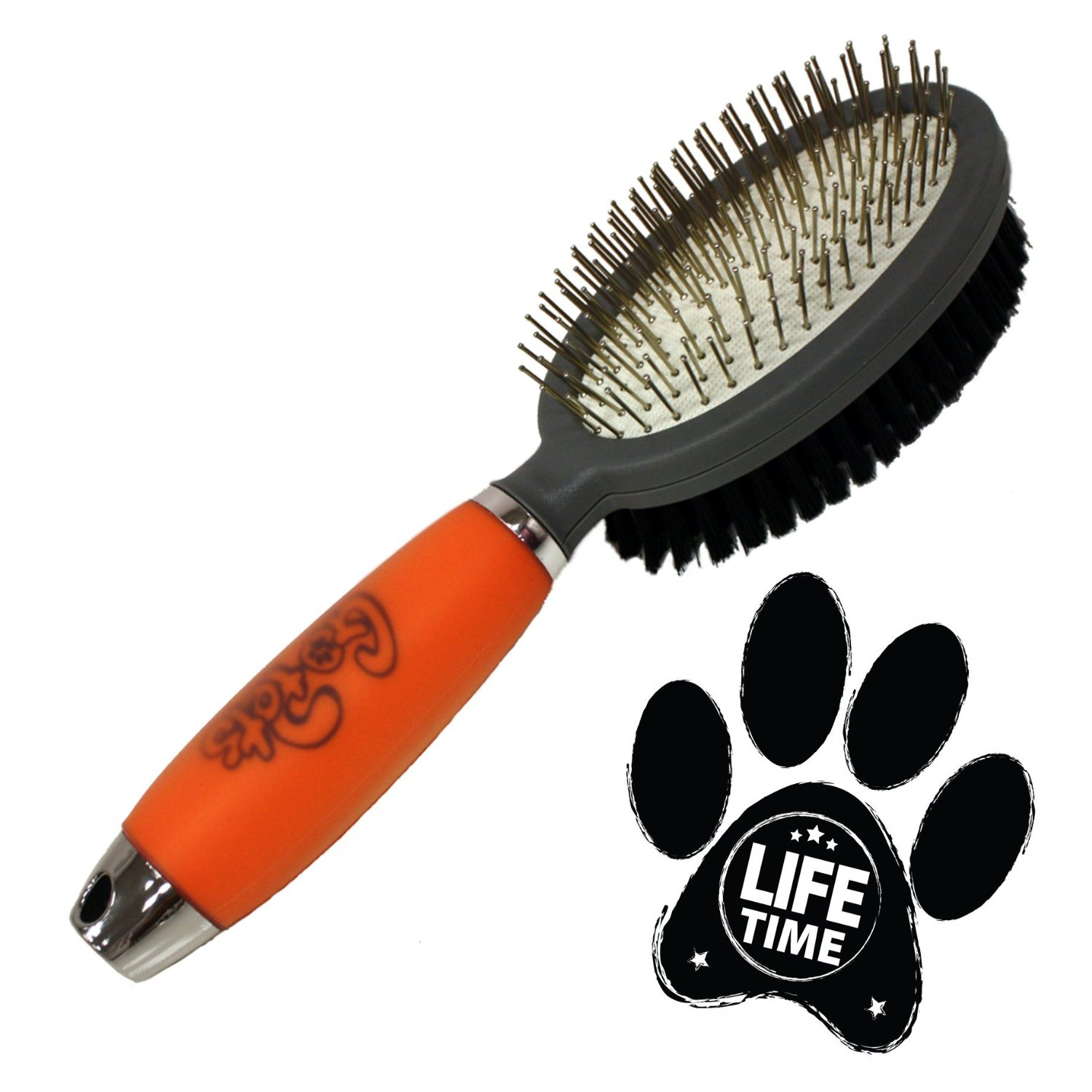 Go Pets - Professional Double Sided Pin & Bristle Brush for Dogs